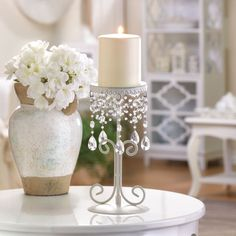 ELEGANT BEADED CANDLE HOLDER!