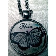 Hope Butterfly Necklace - 5.00 Pendant with 24 inch chain