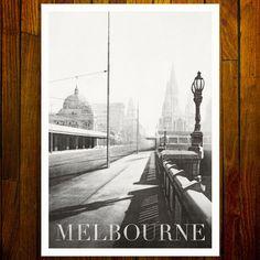Princes Bridge, Melbourne Melbourne Art, Stationery Items, Pigment Ink, Image Shows, Printmaking, Monochrome, Bridge, Black And White, Illustration