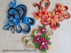 quilling flower Magnets quilling virágosmágnesek