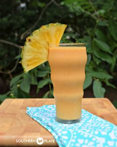 Good For You Pineapple Pumpkin Smoothie ~ http://www.southernplate.com