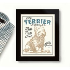 Terrier Dog Art Laundry Room Decor West Highland Westie Dog Wash... ($20) ❤ liked on Polyvore featuring home, home decor, wall art, grey, home & living, home décor, wall décor, quote wall art, typography wall art and dog signs