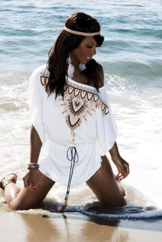 beach cover up #model sew in hairstyle