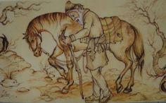 """""""Σ' ένα μακρινό χωριό, κάπου στην Ανατολή, ζούσε ο πιο σπουδαίος ιερωμένος εκείνων των καιρών. Ένας άνθρωπος με μεγάλο κύρος και επιρροή, που παρέμενε απλός και διέθετε απίστευτη σοφία και σπάνια ε… Body And Soul, Painting, Horse, Painting Art, Paintings, Painted Canvas, Drawings"""