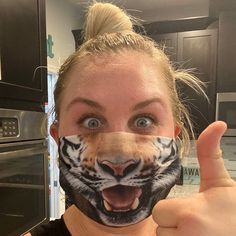 """These are absolutely great! Came quickly and hopefully makes people smile during uneasy times! Great product and fast delivery! I hope my staff love it!"" - Stephanie . . . #evercoverfacemask  #facemascover #facemask #reusablemask  #maskmaking #madeinhungary  #stayhome #staysafe #staystrong #staypositive #stayclean #smile #funny #tiger #tigerlover #bigcatsofinstagram #bigcat #tigris Funny Tiger, Face Mas, Helmet Covers, Sports Helmet, Roller Derby, Mask Making, I Hope, Big Cats, Cats Of Instagram"