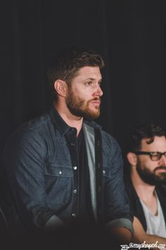 "grumpyjackles: "" he really is just a handsome man. Jensen Ackles - Main Panel - Salute to Supernatural Phoenix 2016 photo by me. if using - credit @amyshaped or grumpyjackles """