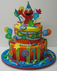 Elmo Birthday Cake