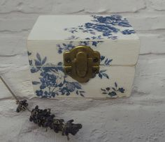 Jewellery Box Wooden Box Gift Box Wood Box Christmas by SCWVintage
