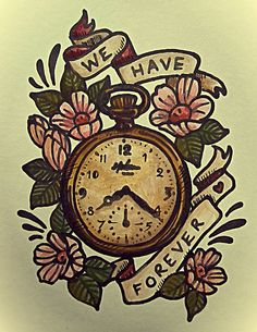 pocket watch tattoo | pocket watch tattoo design vintage old style | Flickr - Photo Sharing!