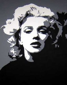 Marilyn Monroe Painting - Marilyn by Michael James Toomy Marilyn Monroe Dibujo, Marilyn Monroe Stencil, Marilyn Monroe Drawing, Marilyn Monroe Tattoo, Marilyn Monroe Artwork, Marylin Monroe, Monochrome Painting, Monochromatic Art, Pop Art Portraits