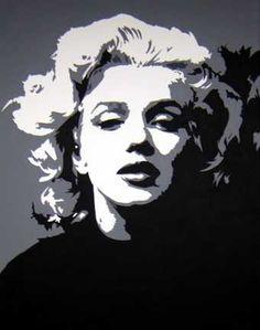 Marilyn Monroe Painting - Marilyn by Michael James Toomy Marilyn Monroe Stencil, Marilyn Monroe Pop Art, Marilyn Monroe Tattoo, Marilyn Monroe Painting, Vector Portrait, Portrait Art, Tattoo Portrait, Animal Sketches, Art Drawings Sketches
