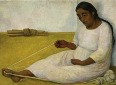Diego Rivera: Indian Spinning, 1936