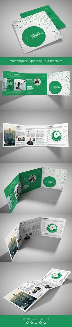 Square Corporate Trifold Brochure  Indesign Template Psd Square