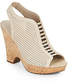 03efcbf98995 Gizmo Diamond Laser-Cut Leather Wedges
