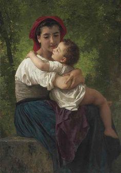 William Adolphe Bouguereau, Le petit câlin