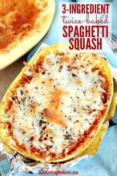 This Twice-Baked Spaghetti Squash recipe is an easy dinner idea that only needs it meatless, and frugal. This easy Twice-Baked Spaghetti Squash recipe is a simple dinner idea that only needs is meatless, gluten-free, and frugal. Low Carb Recipes, Cooking Recipes, Healthy Recipes, Cooking Games, Cheap Recipes, Cooking Bacon, Cooking Turkey, Simple Recipes, Cooking Classes