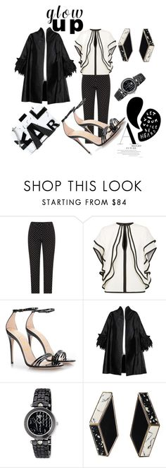 """""""Untitled #2120"""" by deirdre35 on Polyvore featuring Elie Saab, Gucci, Versace and Karl Lagerfeld"""