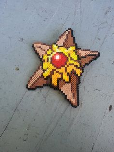 Staryu Pokemon perler beads by BurritoPrincess