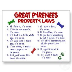Great Pyrenees Property Laws.
