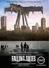 Falling Skies - American SciFi post-apocalyptic dramatic TV show with Steven Spielberg as Exec Producer. Series stars Noah Wyle as Tom Mason, a former Boston University history professor who becomes the second-in-command of the 2nd Massachusetts Militia Regiment, a group of civilians and fighters fleeing post-apocalyptic Boston following an alien invasion that devastated the planet six months before the events of season one.