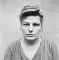 THE LIBERATION OF BERGEN-BELSEN CONCENTRATION CAMP 1945: PORTRAITS OF BELSEN GUARDS AT CELLE AWAITING TRIAL, AUGUST 1945. Herta Ehlert: sentenced to 15 years imprisonment.