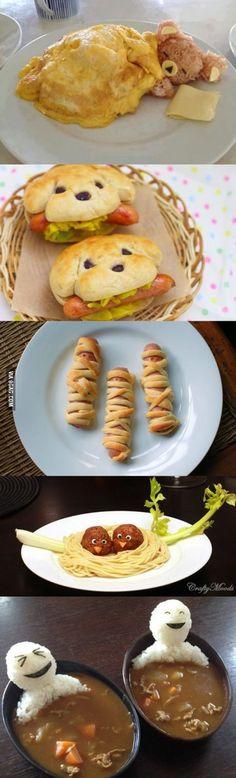 Kel  ~ *[ esse só pra olhar e falar : owwwwwwww que fofuraaaaa]  Cool and Creative Food Art Ideas