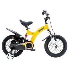 Flying Bear 14 in. Yellow Kids Bicycle, Yellows/Golds