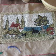 Primitive Antiques, Primitive Country, Horse Farms, Rug Hooking, Country Decor, Reusable Tote Bags, Horses, Decorating, Quilts