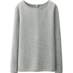 UNIQLO Women Light Cashmere Boat Neck Sweater (13 CAD) ❤ liked on Polyvore featuring tops, sweaters, shirts, jumpers, uniqlo sweaters, uniqlo shirt, collared shirt sweater, longsleeve shirt and boat neck shirt