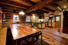 obrázky interiér poloroubenek - Hledat Googlem Simply Home, Kitchen Remodel, The Good Place, Sweet Home, Dining Table, Cottage, Inspiration, Furniture, Design