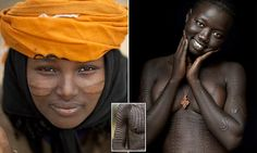 'Blood running, flies going into the wounds, under a hard sun,' was how photographer Eric Lafforgue described the process in the Surma tribe from the Omo valley in Ethiopia Eric Lafforgue, Body Modifications, Ethiopia, Lady, Photography, Beautiful, Girls, Blood, Sun