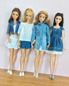 Barbie does denim