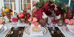 A Jewel-Toned Thanksgiving Table Inspired By Tradition