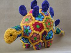 Dino the African Flower Dinosaur by Lineandloops on Etsy