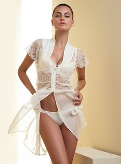 Lise Charmel Babydoll Bedjacket with Lace  Hot, sexy and very sensual Lingerie ... a must have for every woman