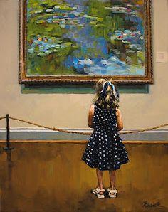"""Karen Jurick: """"Impressionable"""".pintura habla de pintura en museo sin participación admirar"""