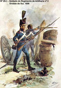 Fucilieri di un rgt. di artiglieria Military Art, Military History, F Pictures, Spain And Portugal, Napoleonic Wars, 19th Century, Medieval, Spanish, Army