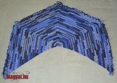 Ötszögletű horgolt kendő Crochet Shawl, Crochet Prayer Shawls, Crocheted Scarf