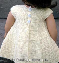 Free Doll Dress Knitting Pattern
