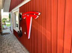 Tesla logo wall sign emblem perfect match for your garage Logo Smart, Tesla Logo, Smart Auto, Logo Sign, Art Sculptures, Easy Wall, Wall Signs, Perfect Match, Cool Pictures
