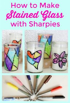 Learn how to make stained glass with Sharpies or other permanent markers! This easy craft project is perfect for any age!