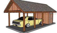 Carport With Storage, Carport Plans, Carport Garage, Shed Building Plans, Diy Shed Plans, Storage Shed Plans, Backyard Sheds, Outdoor Sheds, Garden Sheds