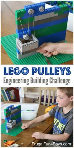 Simple Machines for Kids: LEGO Pulleys STEM Building Challenge. Learn about mechanical advantage! Simple Machines for Kids: LEGO Pulleys STEM Building Challenge. Learn about mechanical advantage! Science Projects, Projects For Kids, Crafts For Kids, Stem Projects, Fair Projects, Kids Diy, Project Ideas, Science Fair, Science For Kids