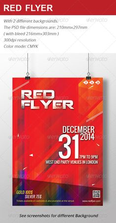 Black And Red Party Flyer Template V  Red Party Party Flyer And