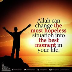 """We have to admit ultimately that we are powerless. Without the help of Allah, we cannot change anything.Therefore, we have to accept Allah in our lives as the only power who can help us. As the Prophet (pbuh) often used to say, """"Laa hawla wa laa quwwata illaa billaah (There is no change nor power except by the will of Allah)"""". #TrustAllah . ."""