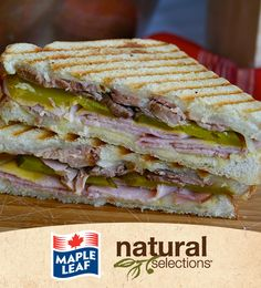 A classic Cuban sandwich of ham, roast pork, pickles and Swiss cheese presented as a panini. Easy Delicious Recipes, Great Recipes, Yummy Food, Favorite Recipes, Healthy Recipes, Wrap Sandwiches, Panini Sandwiches, Cubano Sandwich, Good Enough To Eat