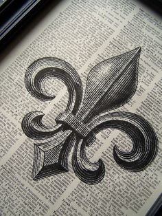 FLEUR DE LIS Upcycled Steampunk French by Winterberrycottage, $7.80