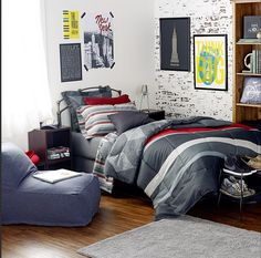 Dormify for Guys! Love this Dormified dorm room for your urban laid back guy! Check out our collection with more variations! #dormify #dormdecor #apartmentdecor