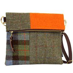 Explorer Harris Tweed Messenger Bag – Montage, Catherine Aitken