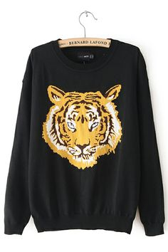 New Western Tiger Printing Knitwear